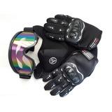 Kit Motocross Bike , Oculos , Luva E Mascara