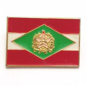 Pim Bótom Broche Bandeira Estado De Santa Catarina Chapeado