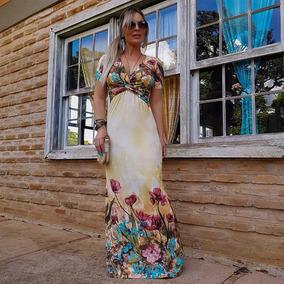 Roupas Femininas Vestidos Decote Cruzado Lindo C/ Lycra 756