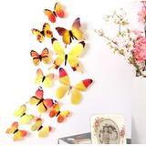 Mariposas 3d Decorativas X 12 Unidades