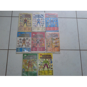 Ficha Super Herois Marvel Do Nº01 Ao Nº08 Importada ( Lote )