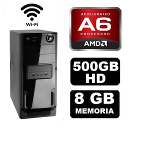 Cpu Gamer Barata Amd A6 7400k 8gb 500gb Radeon 2gb Wifi