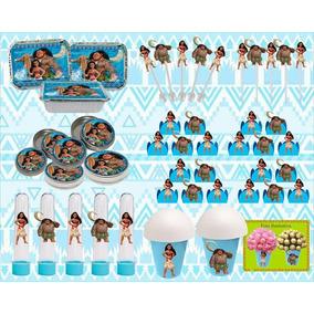 Kit Decorativo Infantil Moana 160 Peças