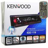 Kenwood Kdc-118 Stereo Cd Mp3 Aux Ecualizador Remoto 20-6154