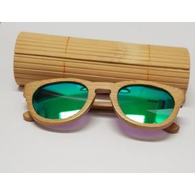 27e066a24c1db Óculos De Sol Importado Unissex De Madeira Bambu Ecológico