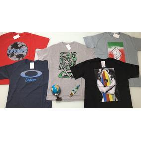 Kit 10 Camiseta Camisa Masculinas Baratas Marcas Oakley Tops ca6a08423ed