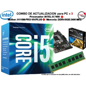 Combo Actualizacion Intel Core I5 7400 + H110pro-vh/plus+8gb