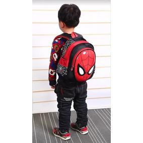 Mochila Escolar Infantil Homem Aranha 3d Frete Grátis