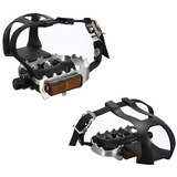 Cycling Fixie Road Mountain Bike Bicycle Pedals Toe Clips St