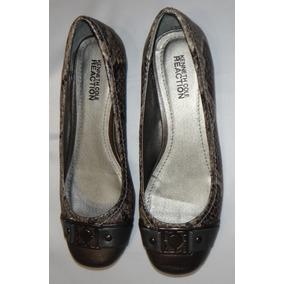Zapato Mujer Marca Kenneth Reaction Color Cafe Número 23.5