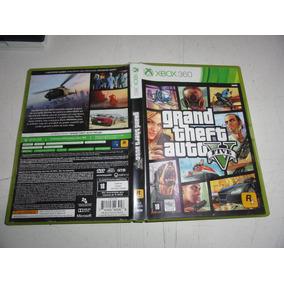 Caixa Fisica Dupla Do Gta 5 V Xbox 360 Original C/manual