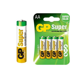 Pilas Aa Gp Super Alcalina 1.5v Blister De 4 Por Caja