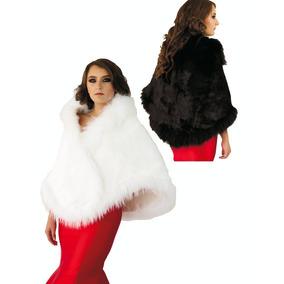 Capa De Pelo De Conejo. Elegante, Glamour, Estola - Lh0015