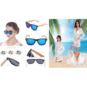 Óculos De Sol Unissex Bemucna E Saída De Praia Verão Férias