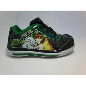4e83611f51d Tenis Infantil Masculino Ben 10 Preto Verde