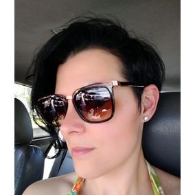 f5f1bdd16df4b Oculos Sol Feminino Marrom Quadrado - Óculos De Sol no Mercado Livre ...