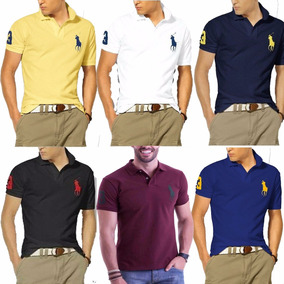 378e22bb19104 Kit 5 Camisas Camisetas Revenda Gola Polo Masculina Atacado. R  89