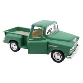Chevy Stepside Pick-up 1955 1/32 Verde Fosco Miniatura Carro