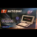 Reproductor Cd/dvd Portatil Hitoshi 7,8 Fm C Remoto