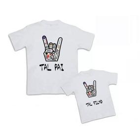 Kit 2 Camisas Tal Pai Tal Filho Hang Loose - Personalizada 7147758bbee
