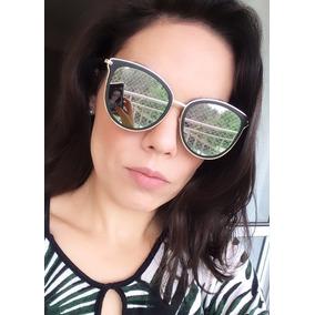 aefe14644ae78 Oculos Sol Gatinho Espelhado Cinza - Óculos no Mercado Livre Brasil