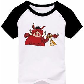 a2dae6729e579 Camiseta Raglan Infantil Timão   Pumba