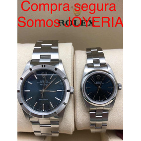 2 Rolex Pareja Air King Acero Oyster Perpetual Impecables