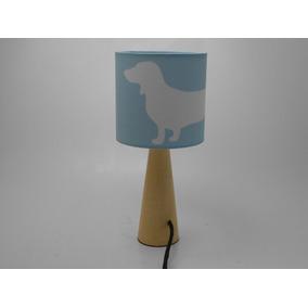 Luminária Abaju Azul Bb Dog