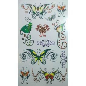 Tatuajes Temporales Tattoos 5 Laminas / Block Nro. 38