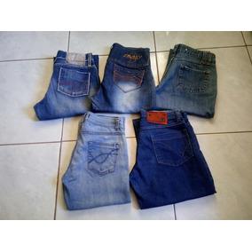 Lote Com 5 Calça Jeans Feminina Usada N: 42