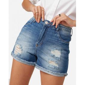 Short Jeans Feminino Do 2 Até 56 Infantil Adulto Kit C/3 Pçs