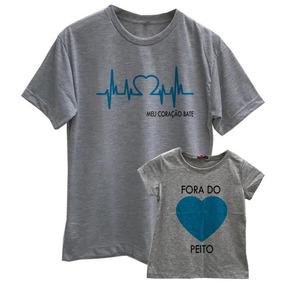 d1abf3240a Kit Camisetas Tal Pai Tal Filho Times Do Coração Santos - Camisetas ...