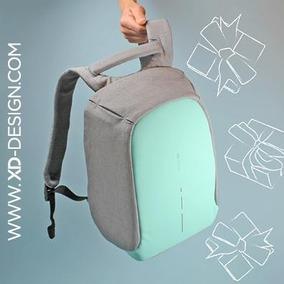 Mochila Antirrobo Bobby Compact Xd Design Gris - Celeste