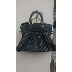 Bolsa Louis Vuitton Denim Black Original Made In France