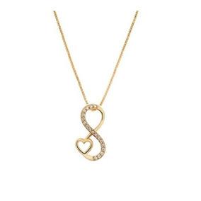 efcde7874668b Pingente Coração Amor Infinito - - Pingentes de Ouro no Mercado ...