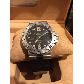 d9385e2c0e2 Reloj Bulgari Diagono Aluminium Caballero Original Raydito
