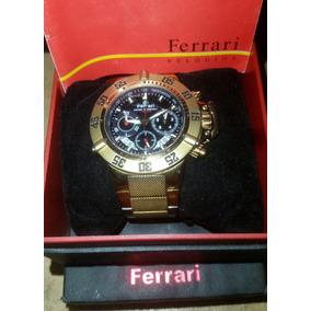 a702fa97bcc Relogio Ferrari Dourado Original - Relógio Masculino no Mercado ...