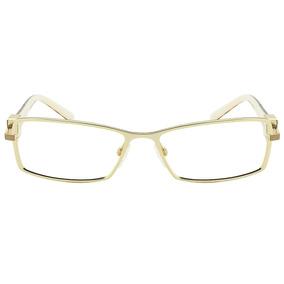 4eb2a814d6ca8 Óculos Armação Dourada Hickmann - Óculos no Mercado Livre Brasil