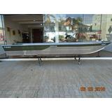 Barco De Alumínio - Semi Chata - 5 Metros -novo - Buricá 500