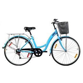 Bicicletas Baccio Liberty 6 Vel Rodado 26 Dama Celeste - Fam