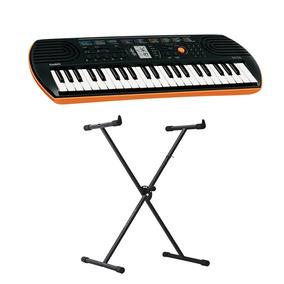 Mini Teclado Musical 44t Casio + Suporte Ferro Hayonik