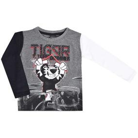 Camiseta Manga Longa Estampada Tigor T.tigre 10204589 17bdef795b420