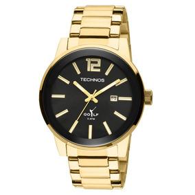 Relógio Masculino Technos Golf 2115tt/4p 45mm Aço Dourado