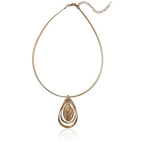 Dtt Joyeria Pendant Necklace For Women Gold Tone Napier