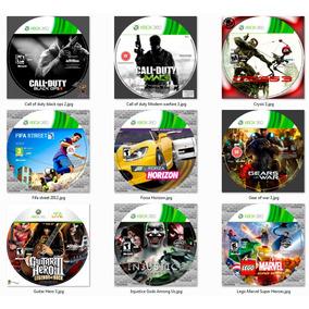 10 Jogos Xbox 360 Prensado Patch Lt 3.0 Ou Jtag Mídia Física