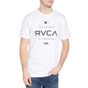 Remera M/c Rvca Lock In Blanco Hombre