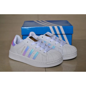 buy popular 288c8 c3b6c Zapatos adidas Superstar Tornasol Para Niñas Y Damas
