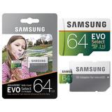 Memoria Micro Sd 64gb Samsung Clase 10 U3 4k 100mb/s Rapida