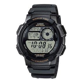 Reloj Casio Ae1000 Mapa Mundial 5 Alarmas Crono Luz Nuevo!