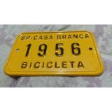Placa Amarela Antiga De Licenciamento De Bicicleta